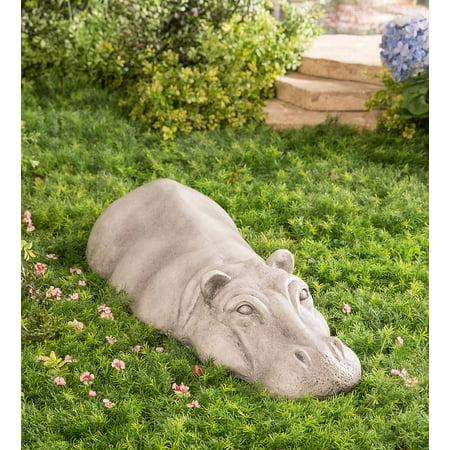 Swimming Hippo Outdoor Garden Sculpture / Yard Art ()