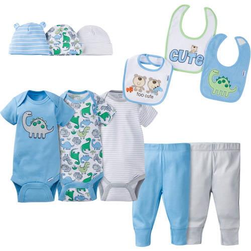 Gerber Newborn Baby Boy Perfect Baby Shower Gift Layette Set, 11 - Piece