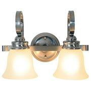 Sanibel Vanity Light Fixture, Maximum Two 60 Watt Incandescent Medium Base Bulbs, 15-1/2 In., Brushed Nickel