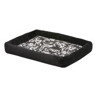QuietTime Couture Sofia Bolster Crate Pad for Pet Black Color 24 Inch