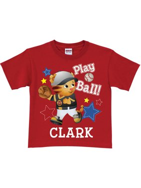 Personalized Daniel Tiger Play Ball Toddler Red T-Shirt