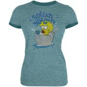 Simpsons - Maggie Ladies Splish Splash Ringer T-Shirt