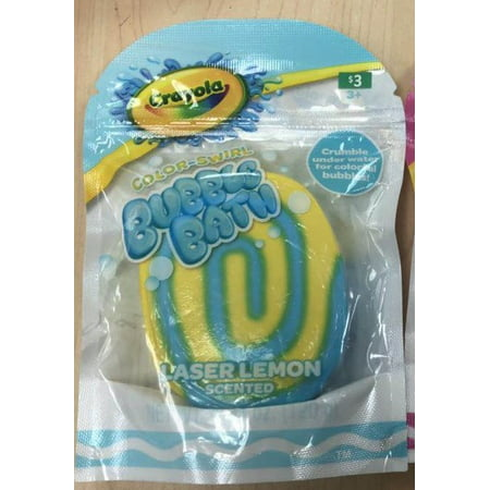 Crayola Yellow Swirl Bubble Bath Bar