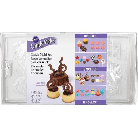 Wilton Candy Mold Set, 8 molds