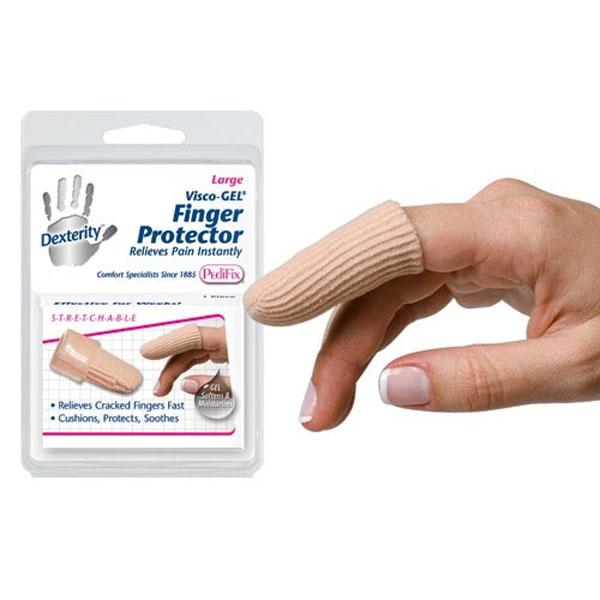 Pedifix Visco-GEL Fabric-Covered Finger Protector-Small