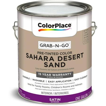 Colorplace Grab N Go Interior Paint Satin Finish Sahara Desert Sand 1 Gallon