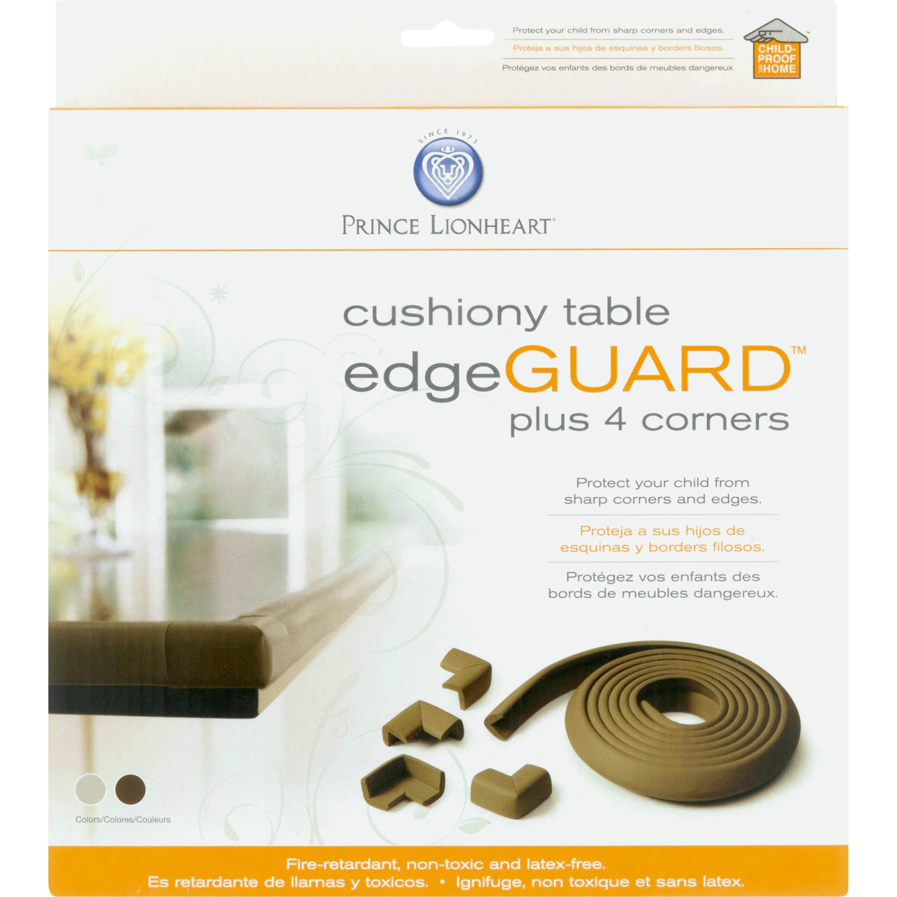 table edge guard. table edgeguard (w/4 corners) - neutral image 4 of 7 edge guard