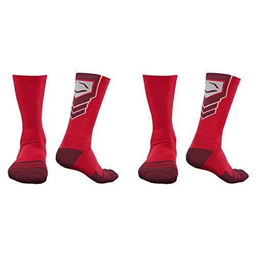 Evoshield Performance Crew Socks Red With Red Large 2 Walmartcom
