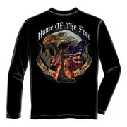 Patriotic Home Of The Free Because Of The Brave Long Sleeve T-Shirt