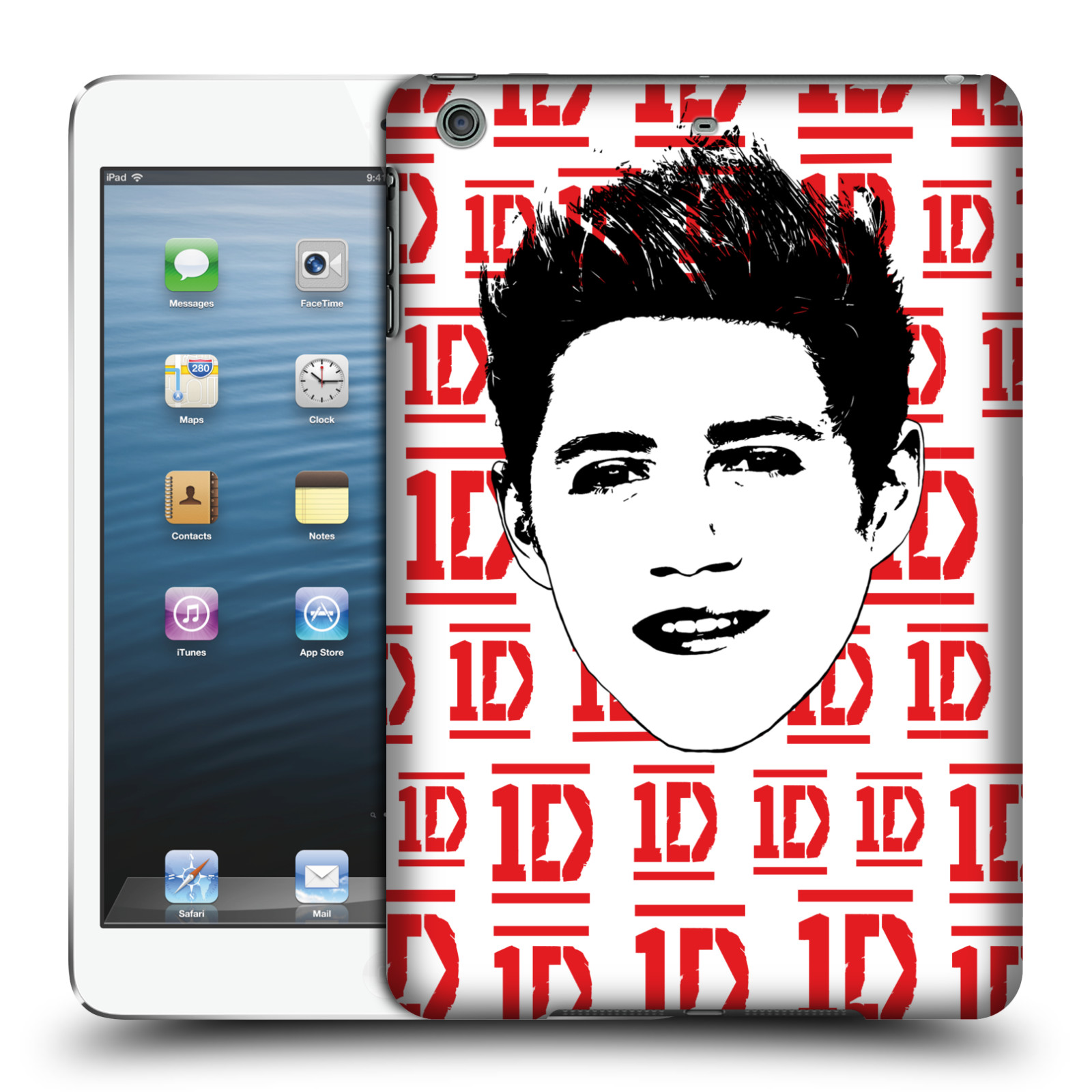 OFFICIAL ONE DIRECTION GRAPHIC FACE NIALL HARD BACK CASE FOR APPLE IPAD