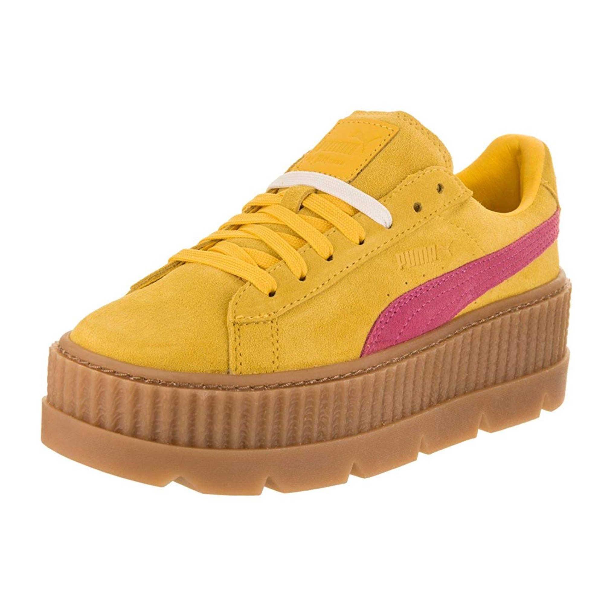 official photos ee0fe 28523 PUMA Womens Fenty by Rihanna Tan Cleated Creeper 36626802 ...