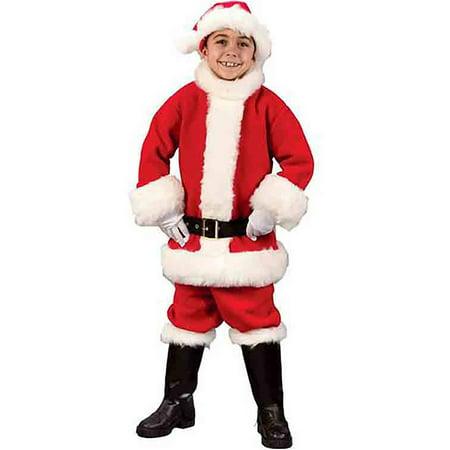Child Santa Costume (Child Santa Flannel Suit)