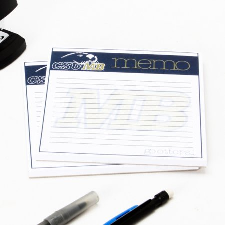 Cal State Monterey Bay Otters Small Memo Note Pad Pack - No Size