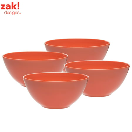 Zak Designs Ella Soup Bowls 30 oz. Pink , 4-piece