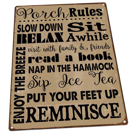 Porch Rules 9