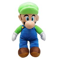Super Mario Bros. Luigi Large Plush Toy With Secret Zipper Pocket (17in)
