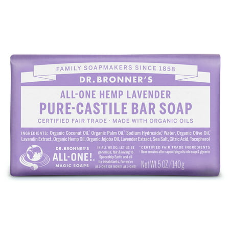 (3 pack) Dr. Bronner's Lavender Bar Soap