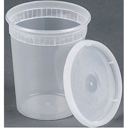 32 oz plastic soup/Food container with lids (96