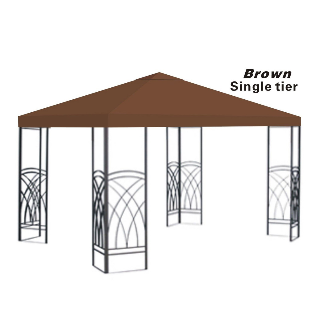 10x10u0027 Replacement Canopy Top Patio Pavilion Gazebo Sunshade Polyester Cover-Single Tier  sc 1 st  Walmart & 10x10u0027 Replacement Canopy Top Patio Pavilion Gazebo Sunshade ...
