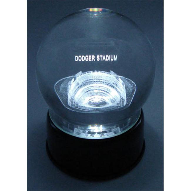 Sports Collectors Guild DodgerLES Dodger Stadium Etched In Crystal Globe With Lighted Musical Base