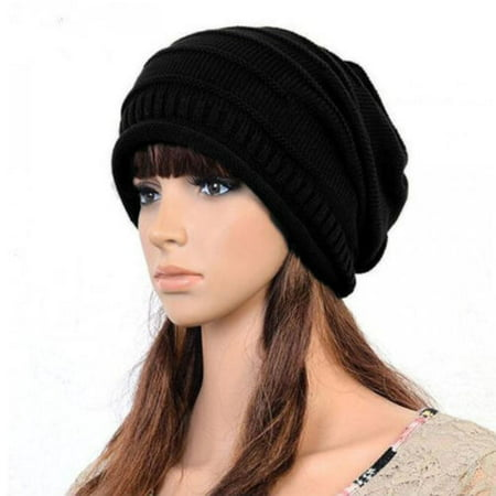 Women Top Hat (Unisex Womens Mens Knit Baggy Beanie Hat Winter Warm Oversized Ski Slouch Cap )
