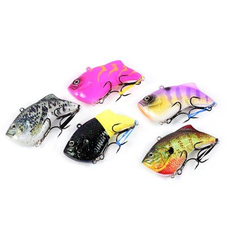 65mm 14g Artificial Hard VIB Bait Crankbait 3D Eyes Lifelike Sinking Fishing Lures Hook with Treble Hooks - image 6 of 7