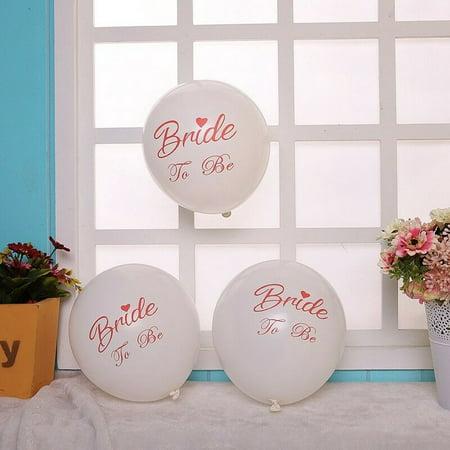 AkoaDa 10pcs 12'' Bachelorette Party Latex Balloons Bride To Be Party Wedding Decor US