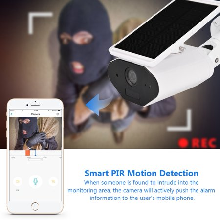 FAGINEY Waterproof Camera,Wireless Surveillance,960P WiFi Solar Energy Security Camera Wireless Waterproof Energy-saving Surveillance Camera - image 3 of 8