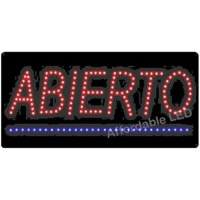 Affordable LED L7051 12 H x 24 L in. LED Spanish Open Sign