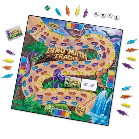 Learning Resources Dino Math Tracks Place Value Game - All Cool Math Games