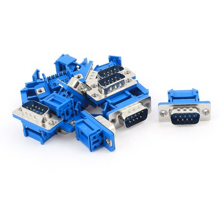 Male Crimp D-sub Connector - Unique Bargains 10pcs D-SUB DB9 9 Pin Male IDC Flat Ribbon Cable Crimp Adapter Connector