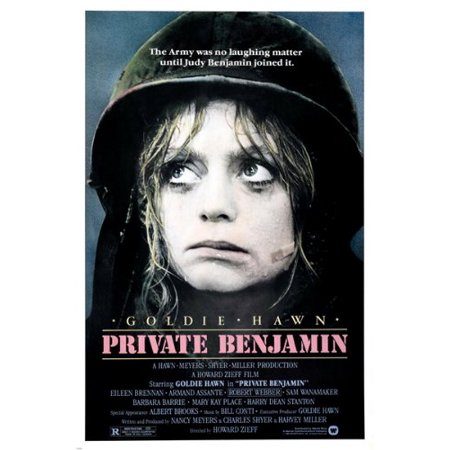 Goldie Hawn Private Benjamin Movie Poster Armand Assante Army Comical 24X36