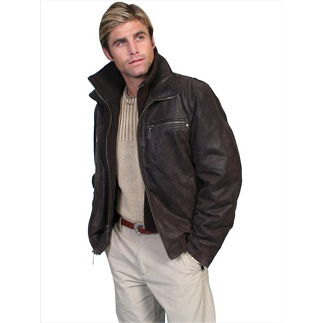 Scully 400-63-XL Mens Leather Wear Jacket, Brown, Extra Large - image 1 de 1