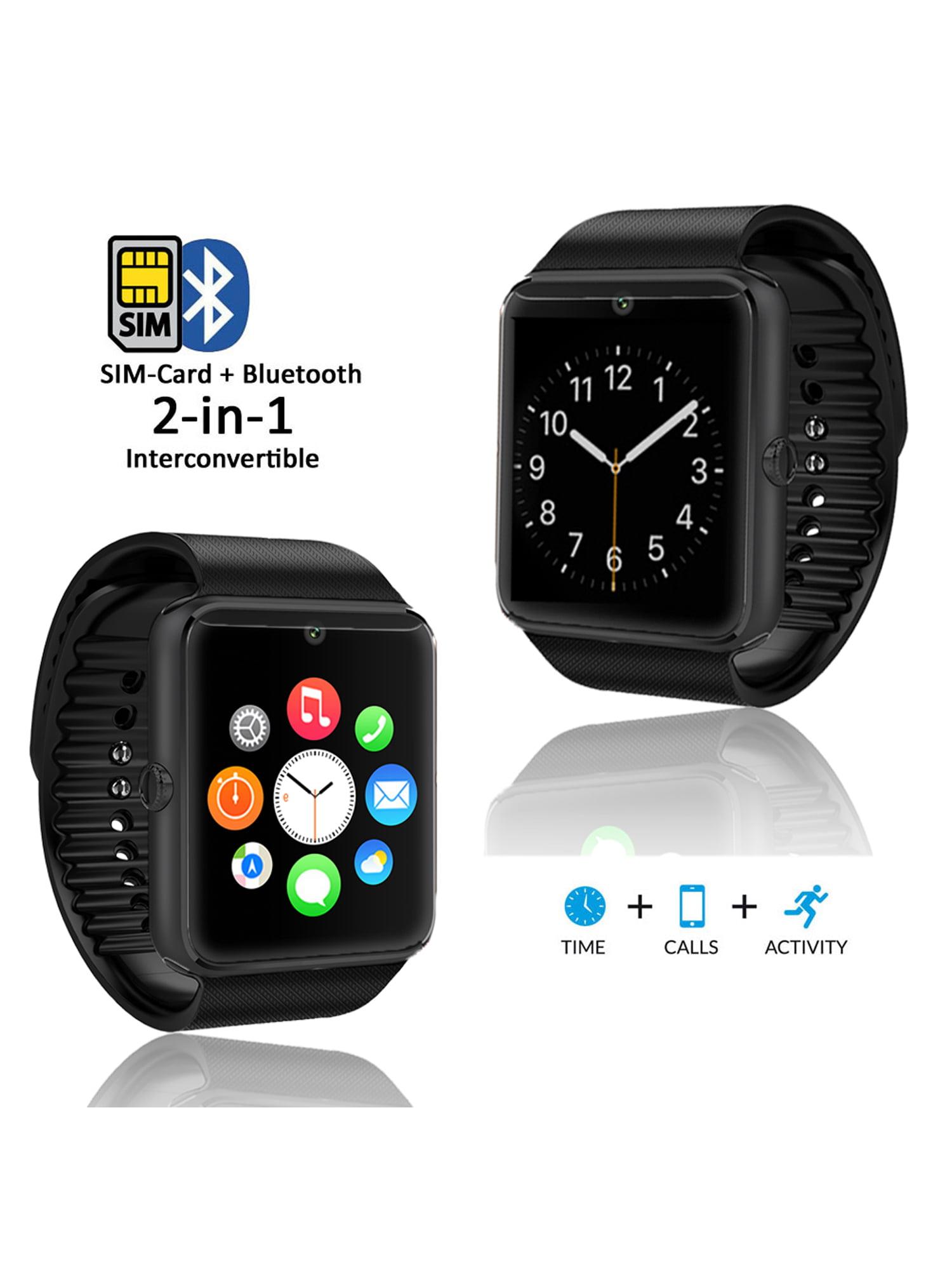 Indigi 174 Black Gt8 Bluetooth Smartwatch Amp Phone W