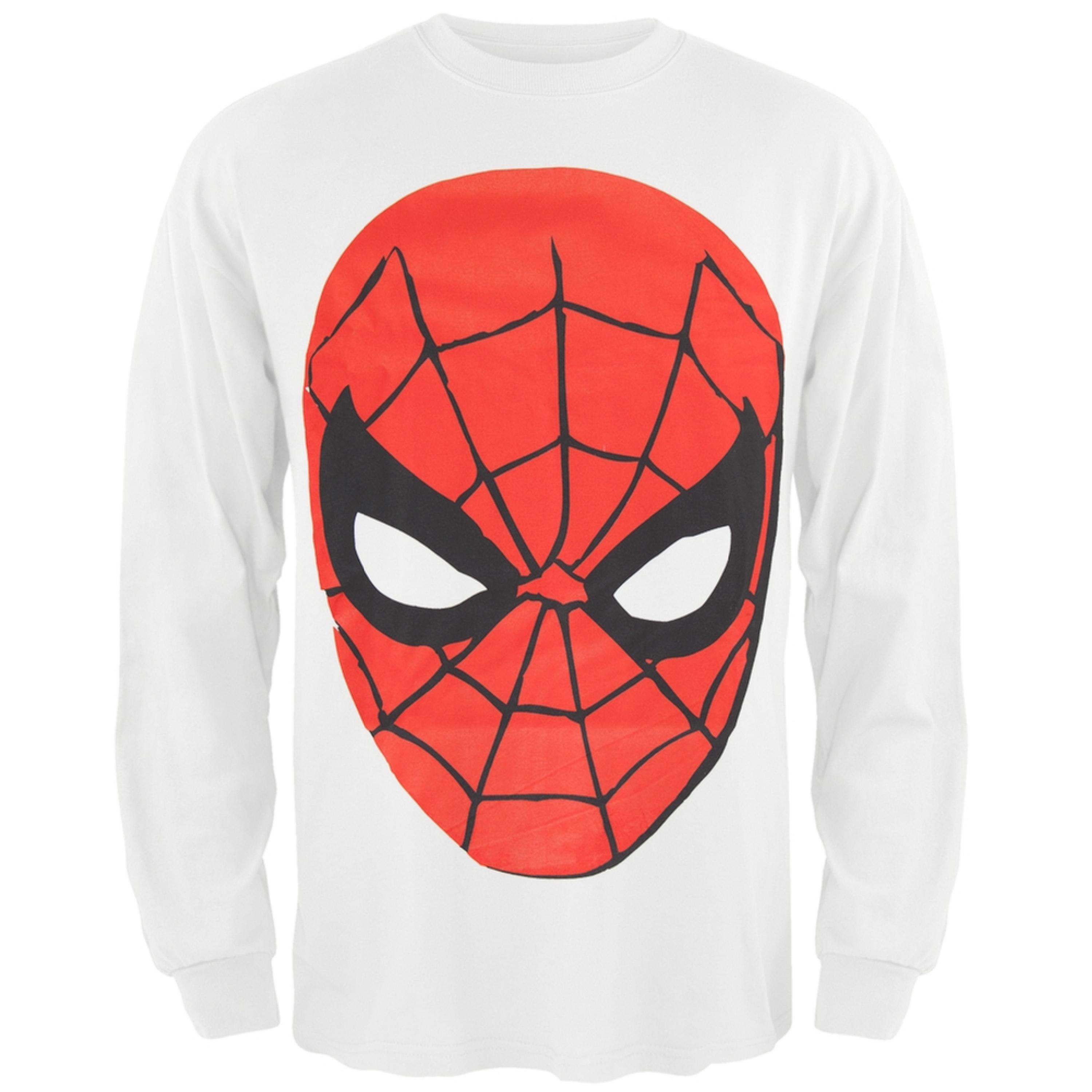 Spider-Man - Round Face Long Sleeve T-Shirt