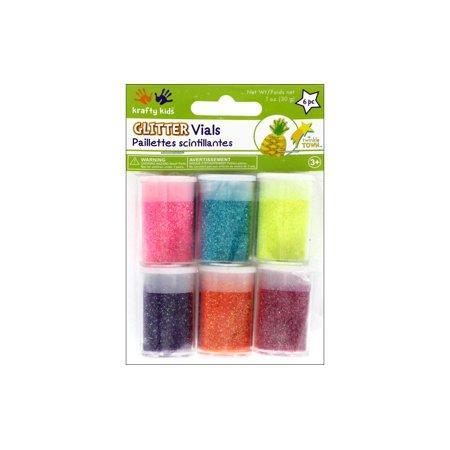Neon Glitter Saddle Plug (Multicraft Twinkle Town Glitter Vials Ast)
