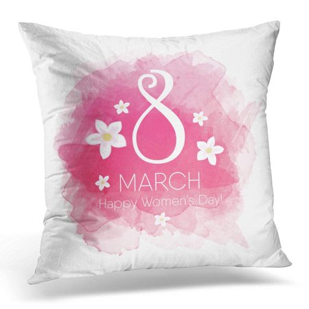 CMFUN Colorful Number 8 March Womens Day Pink Flower Pillow Case Pillow  Cover 20x20 inch - Walmart.com e3c8fecf13
