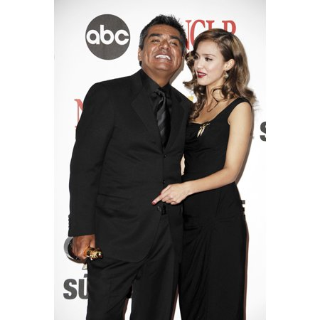 George Lopez Jessica Alba In The Press Room For Alma Awards 2007 - Press Room Pasadena Civic Auditorium Pasadena Ca June 01 2007 Photo By Michael GermanaEverett Collection