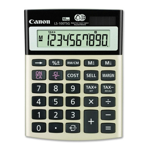 Canon 10-Digit Calculator, Dual PoWhiter