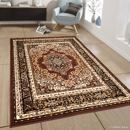 Allstar Brown Woven High Quality Rug. Traditional. Persian. Flower. Western. Design Area Rug (7' 7