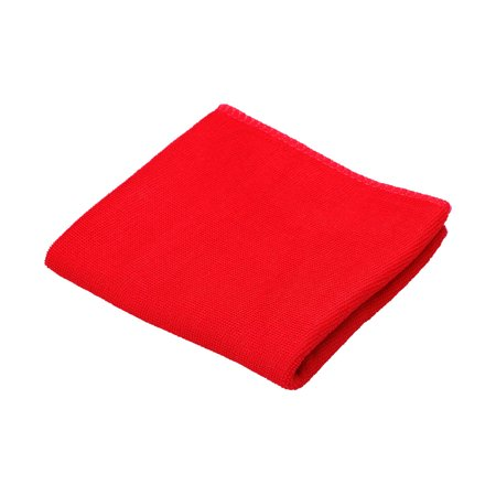 Red Rectangle Shaped Pet Dog Poodle Washcloth Drying Grooming Towel
