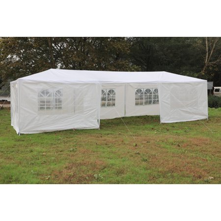 Mcombo 10'x30' White Canopy Party Outdoor Gazebo Wedding Tent 7 Removable Walls
