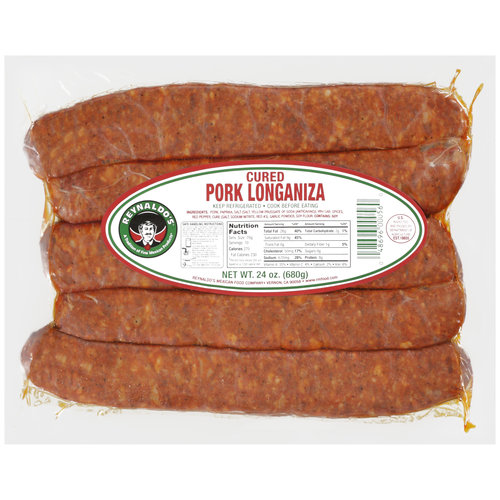Reynaldo's Cured Pork Longaniza, 24 oz