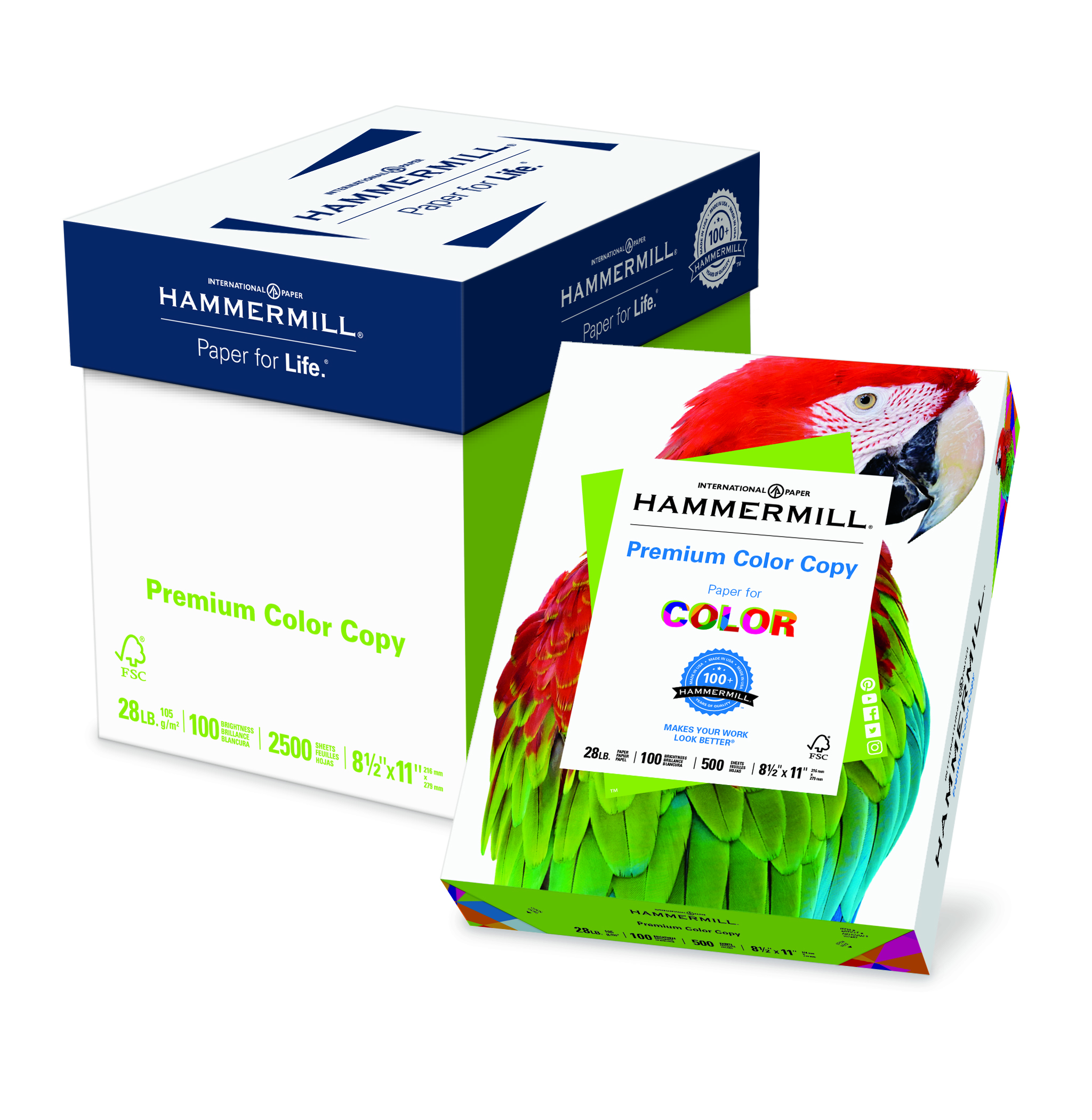 Hammermill Color Copy Digital, 28lb, Letter, 100 Bright, 2500 Sheets/5 Ream Case, (102450C)