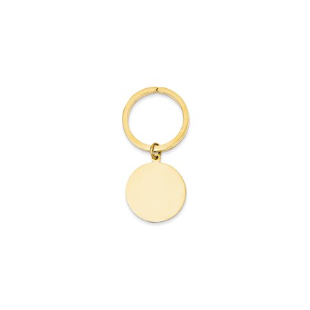 14K Yellow Gold Round High Polished Engravable Disc Key (High Key Gold)