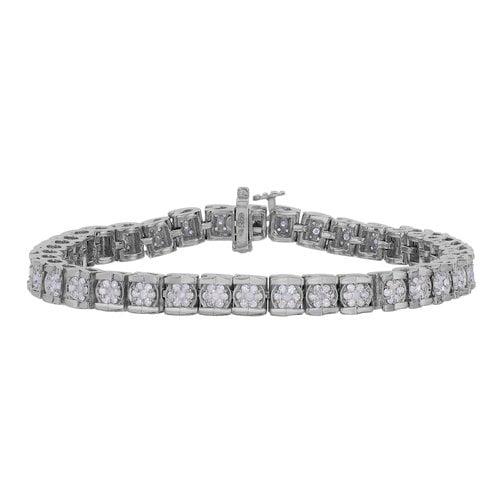 Women's 2 Carat T.W. Diamond Silver Tennis Bracelet by Generic