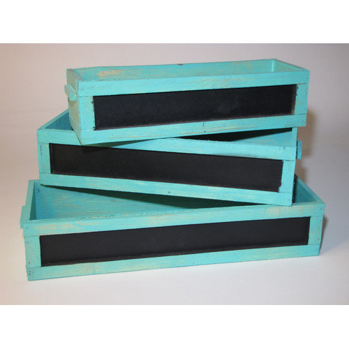 Metrotex Designs 3 Piece Rectangular Window Box Planter Set