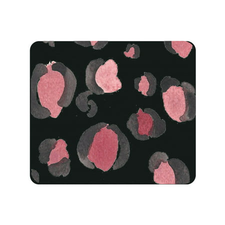 OTM Prints Black Mouse Pad, Spotted -