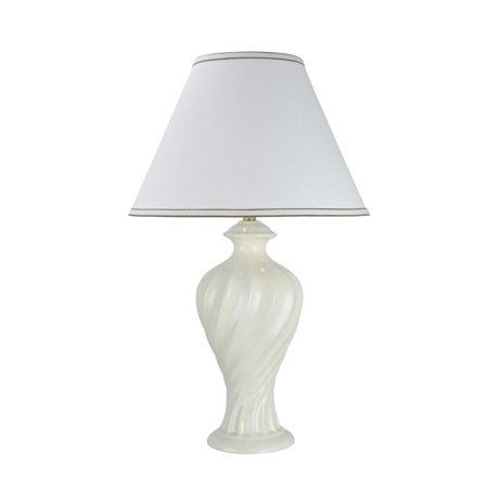 Aspen Creative 40065, 29 1/2u0022 High, Traditional Ceramic Table Lamp, Off-White with Hardback Empire Shaped Lamp Shade in Off-White, 18u0022 Wide