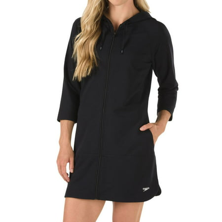 Women s Speedo 7237139 Aquatic Fitness Robe with Hood - Walmart.com d539b7455